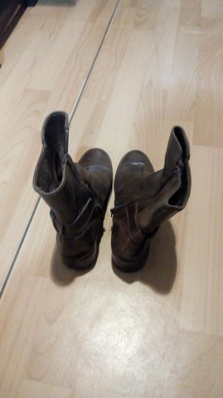 Zapatos De Cuero Vaquera