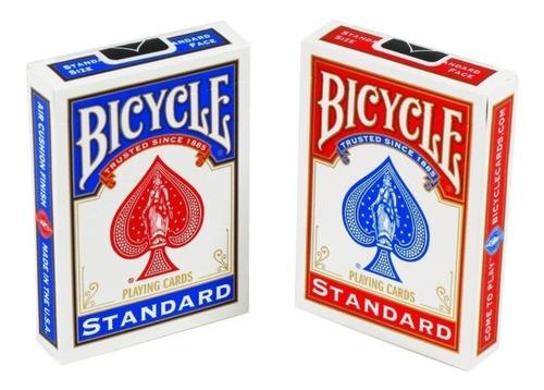Baraja Bicycle Standard Poker Cartas (rojo Y Azul)