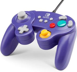 Control Nintendo Switch Game Cube Style Morado