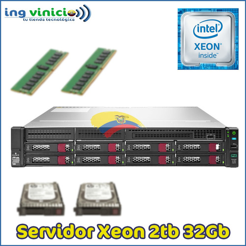 Imagen 1 de 4 de Servidor Hp Proliant Dl180 Gen10 Xeon  2.1ghz 32gb 2tb Rack