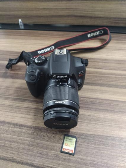 Camera Canon T6 + Lente 18-55 Mm + Cartão De Memoria 32 Gb