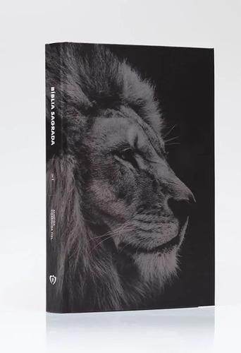 Bíblia Sagrada/leão Hebraico/capa Dura/frete Grátis