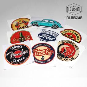 100 Adesivos Marcas Antigas Retro Vintage Carros Antigos
