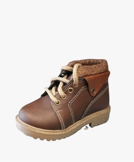 Bota Botinha Coturno Couro Sapato Masculino Infantil 20 A 27
