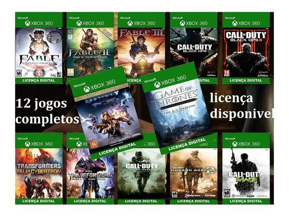 Combo 12 De Jogos Xbox 360 Mídia