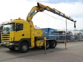 Camion Scania 144g/460 Con Grua Effer 520/6s. Cap. 20 Tons.