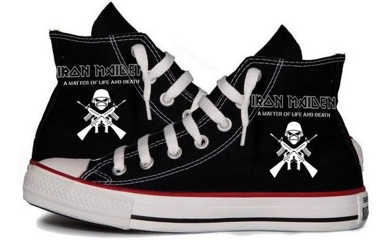 Tênis Iron Maiden Banda Rock All Star Personalizado