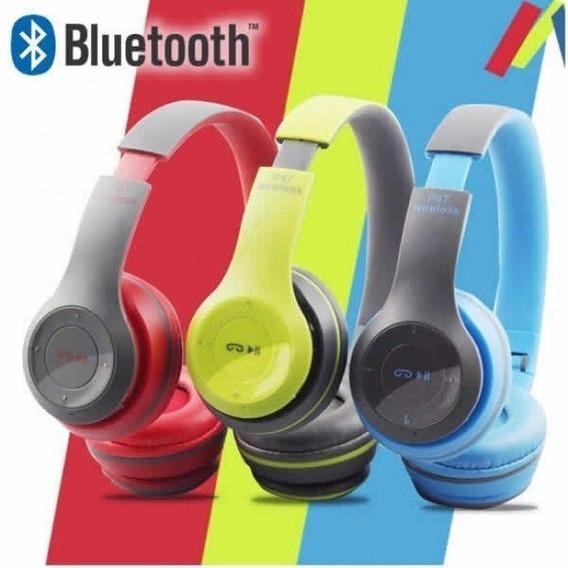 Fone De Ouvido Bluetooth Sem Fio Estéreo Universal Vermelho