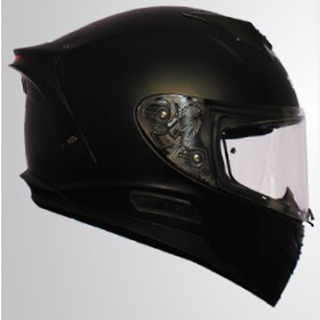Casco Cerrado Nox-solid Rocket Force Negro Mate Rider One