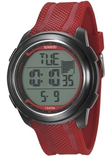 Relógio Masculino Speedo Preto/vermelho