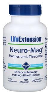 Neuro-mag Magnésio L Treonato 90 Caps Life Extension Magtein