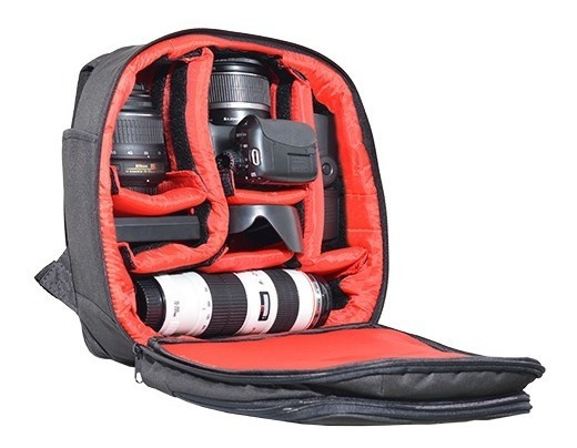 Mochila Modern Para Câmera Canon Eos Rebel T6s