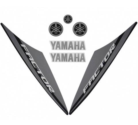 Kit De Adesivos Ybr 125 Factor 14 K1 Moto Cor Preta - 10485