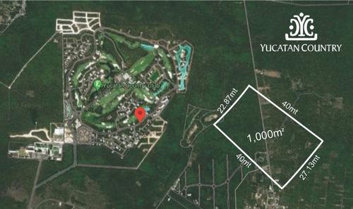Imagen 1 de 5 de Espectacular Terreno En Country Club Yucatán