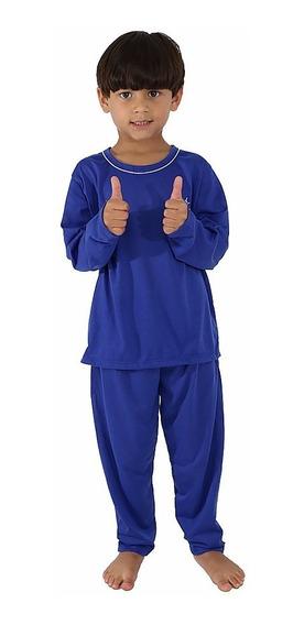 Kit 3 Pijama Infantil Masculino Manga Longa Menino Roupas