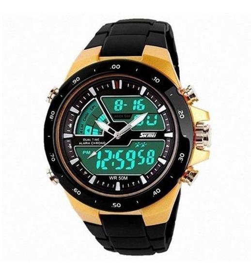 Relógio Masculino Presente Dia Dos Pais Anadigi Skmei Barato