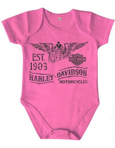 Roupa Infantil Body Algodão Coleção Motorcycles Harley 348