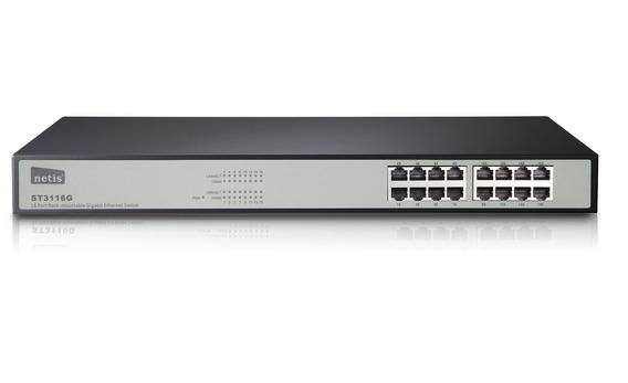 Switch Netis 16 Bocas St3116g Gigabit Simil Tp-link Sg2216