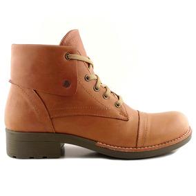 Borcego Botineta Cuero Mujer Briganti Zapato Negro Mcbo24693