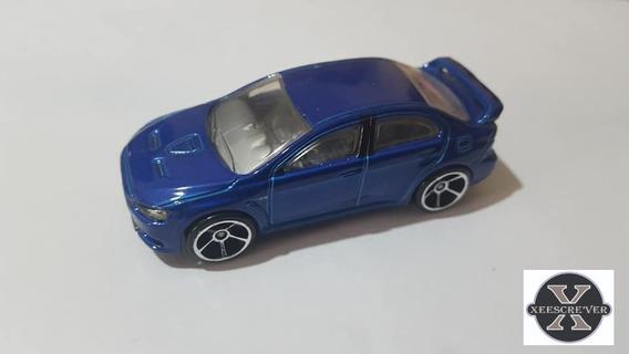 08 Mitsubishi Lancer Evolution 2008 First Ed Azul Hot Wheels