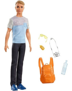 Muñeca Barbie Muñeco Figura Ken Viajero Accesorios