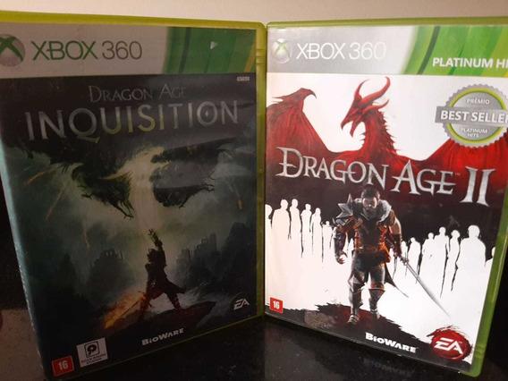 Jogo Usado Xbox 360 - Dragon Age ( 2 E Inquisition )