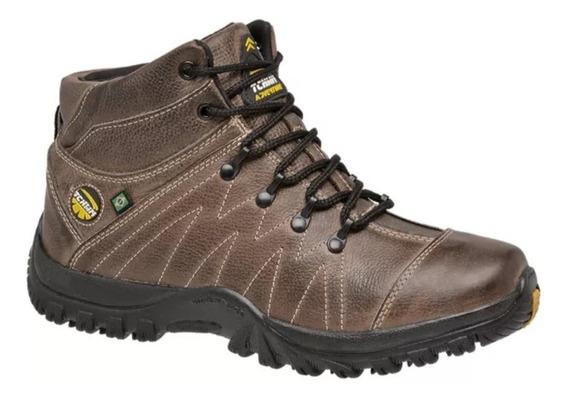 Coturno Adventure Masculino Em Couro Legitimo Tchwm Shoes