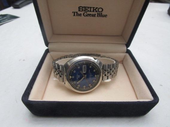 Seiko 5 Sports Automatico Fundo Azul 6119 - 7163