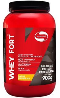 Whey Fort Vitafor 900g - Whey Protein Premium - Baunilha