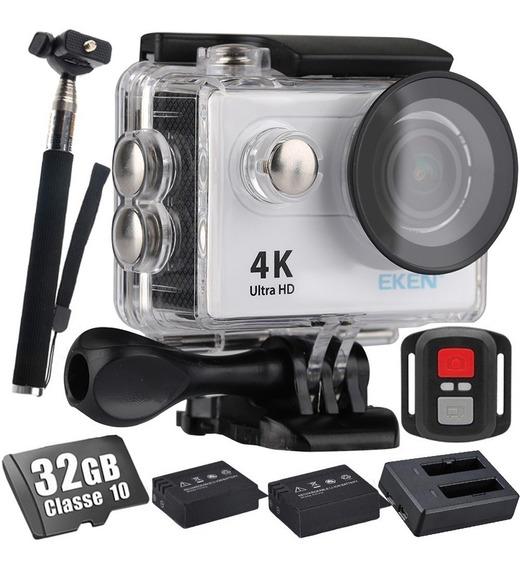 Kit Câmera Eken H9r 4k Wi-fi 32gb + Carregador + 02 Baterias