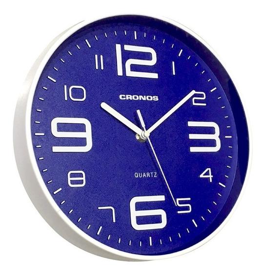 Reloj Pared Cronos Centenario 25cm Quartz Silencioso Moderno