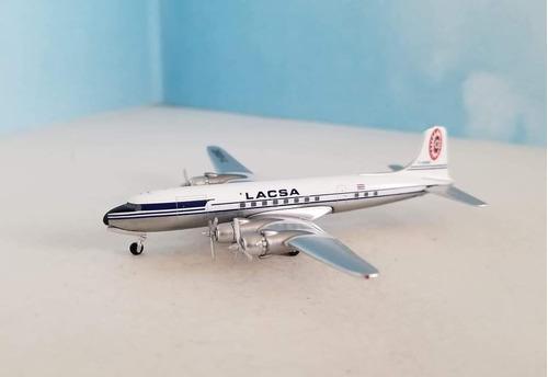 Miniatura Avião Aeroclassics 1:400 Lacsa Douglas Dc-6b