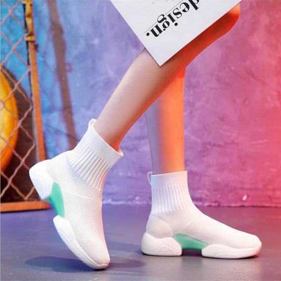 Zapatillas Botitas Elestizadas Urbana Calcetin