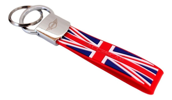Chaveiro Bmw Mini Cooper Bandeira Inglaterra Vermelho