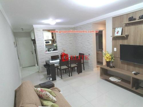 Apartamento Com 3 Dormitórios À Venda, 77 M² Por R$ 370.000,00 - Parque Industrial - São José Dos Campos/sp - Ap3211