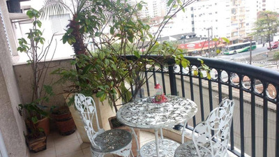 Apartamento Com 2 Dormitórios À Venda, 77 M² Por R$ 480.000 - Marapé - Santos/sp - Ap3295