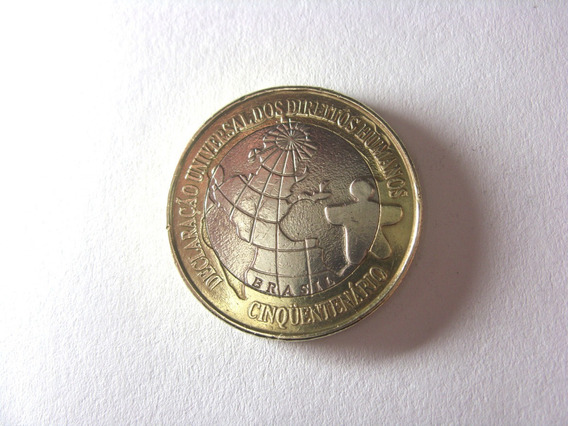 Linda Moeda 1 Real 1998 Direitos Humanos Comemorativa Rara !