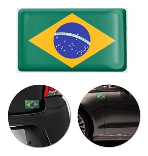 Adesivo Resinado Poliéster Bandeira Brasil 9cm