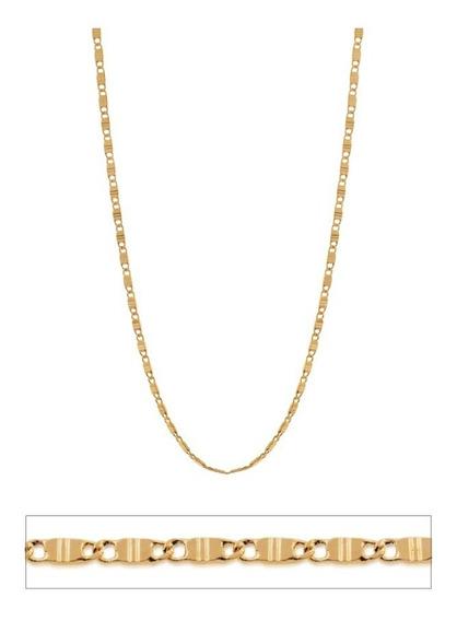 Cordão Folheado Ouro 18k Rommanel 60 Cm Navetes Com Garantia