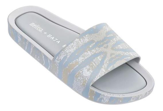 Melissa Beach Slide + Baja East Cinza Branco