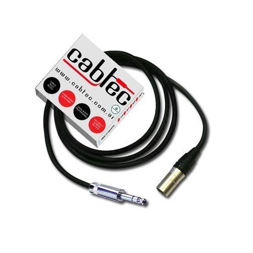 Cable Canon Xlr Macho A Plug Stereo Neutrik Rean 1m Cabtec