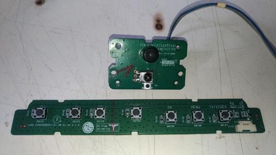 Teclado + Sensor Tv Lg 26lg30r Eax43425701 Eax41665301 (4)