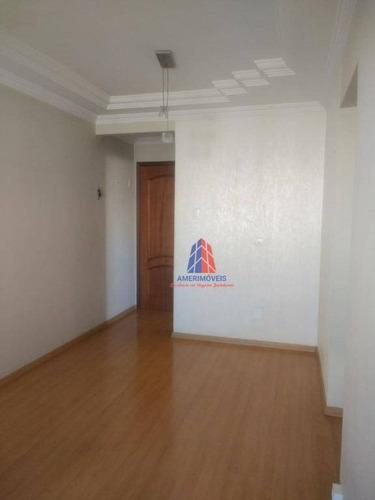 Apartamento Com 3 Dormitórios À Venda, 78 M² Por R$ 230.000 - Residencial Guaicurus - Loteamento Industrial Machadinho - Americana/sp - Ap0839