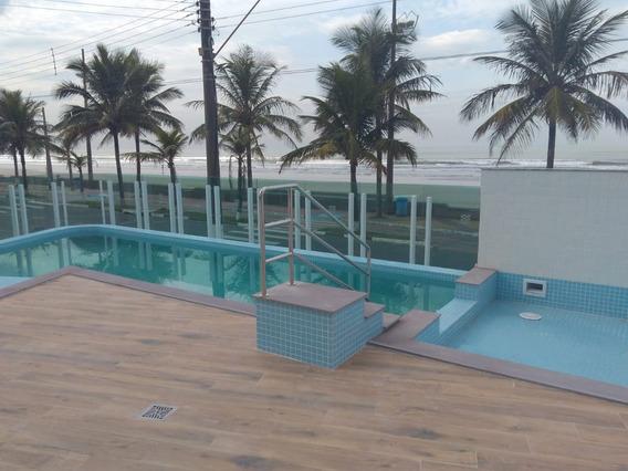 Apartamento 2 Quartos,suíte,varanda Gourmet Pé Na Areia