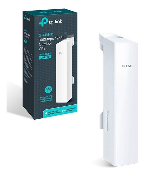 Antena Wifi Exterior Cpe Tp-link Cpe220 300mbps 2.4ghz 12dbi