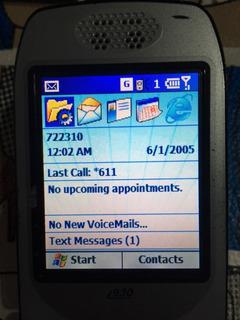 Telefono I920 Para Gsm Nextel Internet Windows Mobile Negro