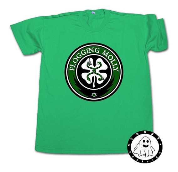 Remera Flogging Molly Clover Unisex Algodón Irish Punk