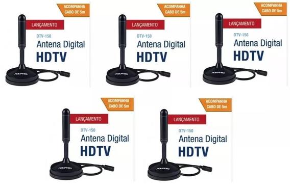 5 Antenasinternas Vhf, Uhf, Fm E Hdtv C/ Frete Gratis