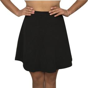 Falda Circular Skater Negra Por Tallas Cintura Alta Sexy