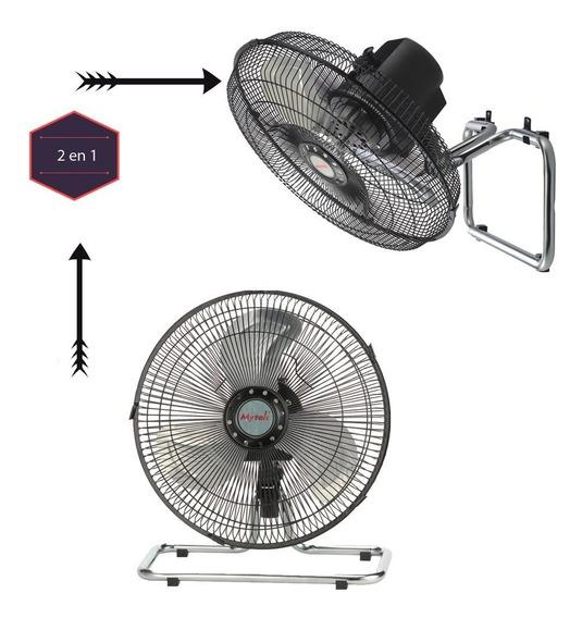 Ventilador Mytek 3372 12 Pulg Piso 3vel 2 En 1 Metalica